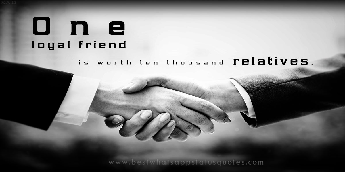 Whatsapp Status on Friendship